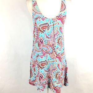 Lucy Love Dress Sz L Paisley Print Summer Sundress